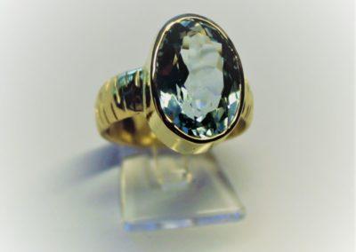 Ring mit Aquamarin 585 Gelbgold